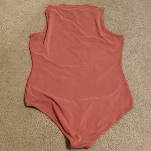Madewell Tops - Madewell Rust Mock Neck Tank Bodysuit